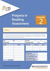 New PiRA Test 2, Summer PK10 (Progress in Reading Assessment) - McCarty, Colin